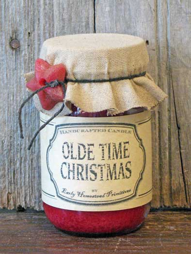 Olde Time Christmas Jar Candle